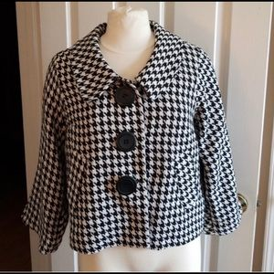 Women's Lapis broad Houndstooth Jacket